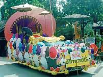 Parade float in Chiang Mai