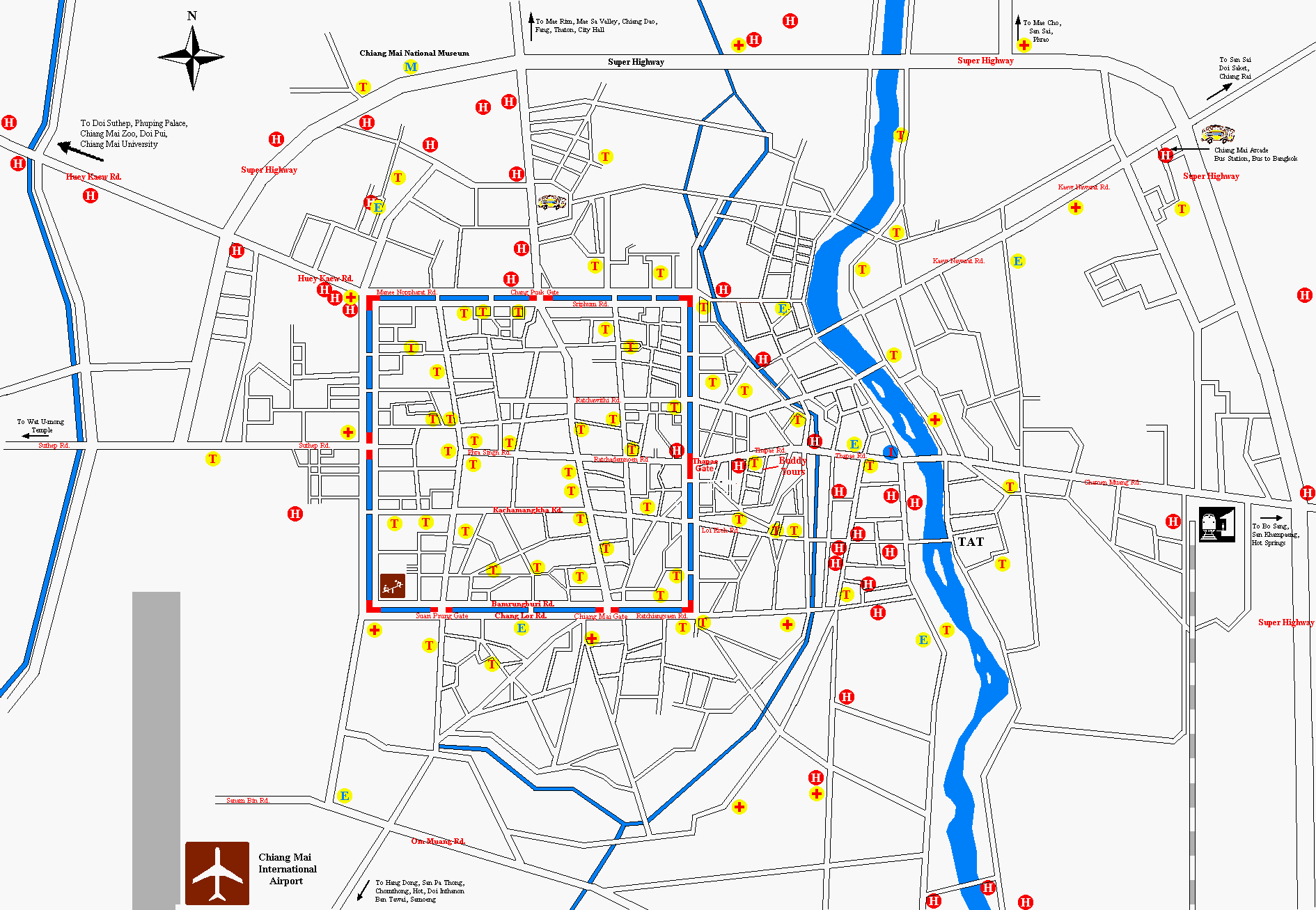 Map of Chiang Mai Chiang Mai Map on